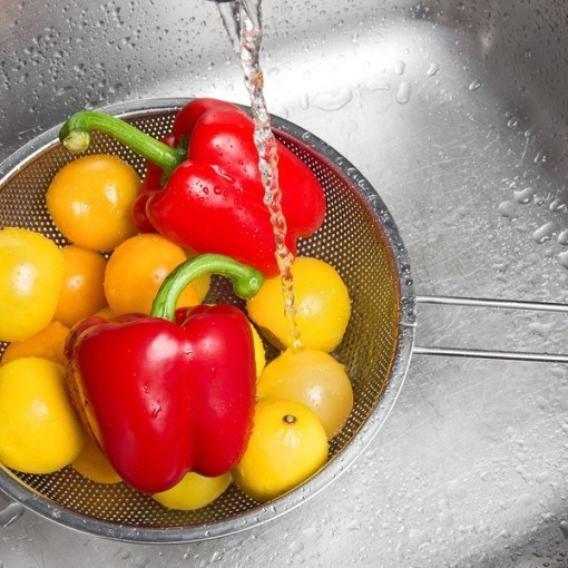 Fruits and veggies Cleaned With Tap Water